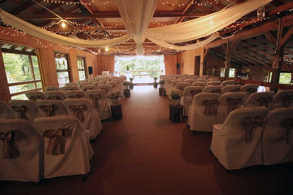 Activity barn prepared for wedding