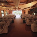 Activity barn prepared for wedding